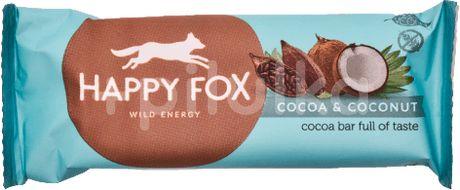 HAPPY FOX – Kakaová tyčinka s kokosem 50g