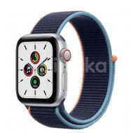 Apple Watch SE GPS + Cellular, 40mm Silver Aluminium Case, Deep Navy Sport Loop 1ks