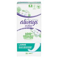 Always Dailies Cotton Protection Intimky Large 32ks