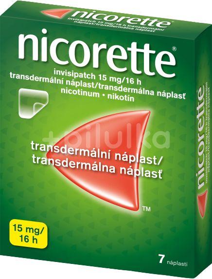 Nicorette Invisipatch 15mg/16h náplast 7x15mg