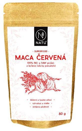 Natu Maca červená BIO prášek 80g