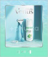 Gillette Venus Smooth Dárková Sada: Holicí Strojek + hlavice + Satin Care gel na holení