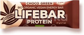 Lifefood LIFEBAR GREEN PROTEIN BIO RAW čokoládová se spirulinou 47g