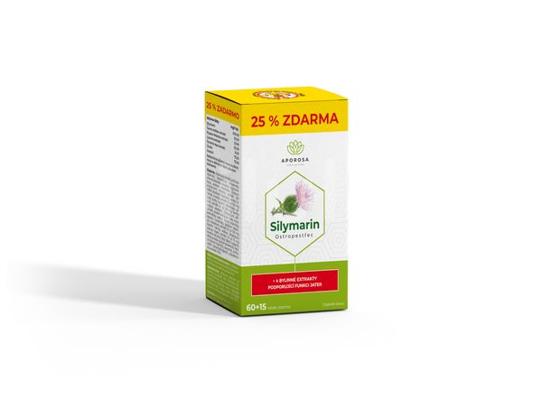APOROSA prémiový Ostropestřec (Silymarin 200 mg) 75 tablet