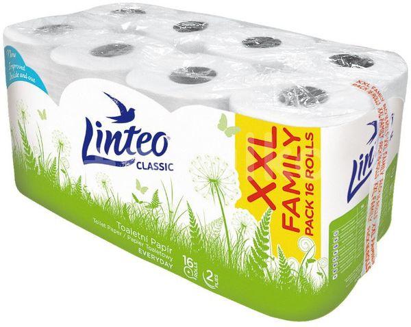 Toaletní papír LINTEO Classic 2vrstvý 16ks