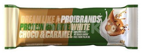 PRO!BRANDS Big Bite bílá čokoláda/karamel 45g