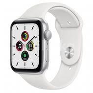 Apple Watch SE GPS, 44mm Silver Aluminium Case, White Sport Band, Regular 1ks