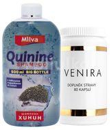 Venira komplexni pece o vlasy, nehty a plet 80 kapslí + Milva Big Sampon chinin 500ml