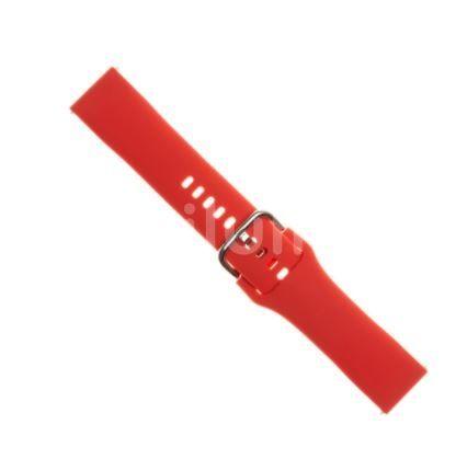 FIXED Silikonový řemínek Silicone Strap s šířkou 20mm pro smartwatch, červený