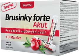 Brusinky Forte Akut 1500mg + D-Manosa 10 ampulí