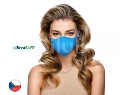 BreaSAFE Český NanoRespirátor FFP2 Znovupoužitelný modrý M 10ks
