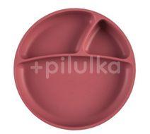 Minikoioi Talíř dělený silikonový s přísavkou - Rose