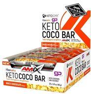 Amix KetoLean Keto goBHB Coco Bar, Bílá čokoláda 20x40g