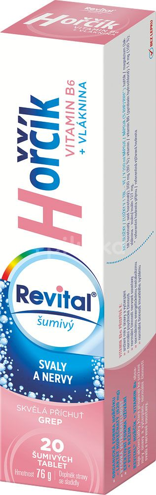 Revital Hořčík + B6  20 šumivých tablet