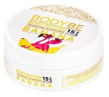 Bodybe Opalovací máslo s třpytivým efektem, SPF25 Banán v čokoládě 150ml