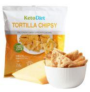 KetoDiet Proteinové Tortilla chipsy s příchutí chedaru 25g/1 porce