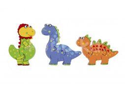 Orange Tree Toys Mini puzzle, Dinosauři 3ks