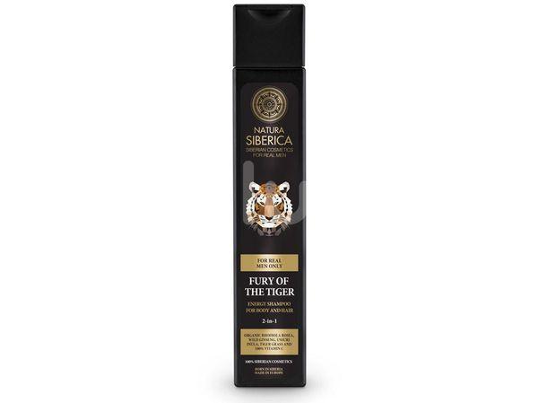 Natura Siberica Men Energizující šampon na vlasy a tělo 2v1 Nezkrotnost tygra 250ml