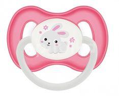 Canpol babies Dudlík 0-6m kaučukový třešinka BUNNY & COMPANY růžový