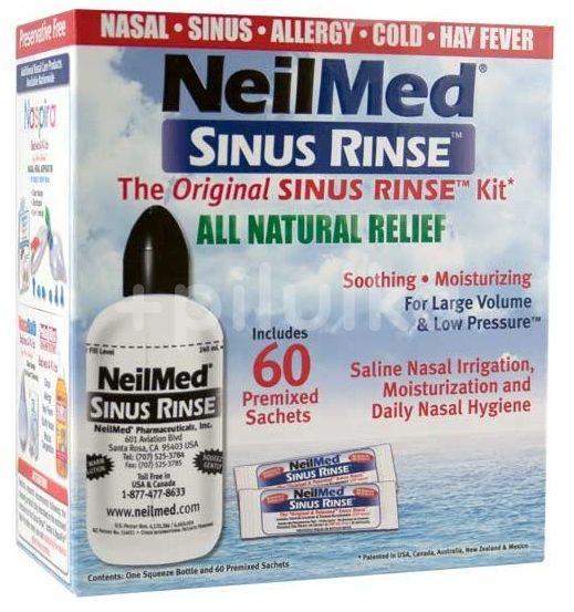 NeilMed Sinus Rinse Isotonic 240 ml + 60 sáčků