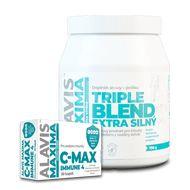 Alavis MAXIMA C-Max immune 4 30 kapslí+ALAVIS MAXIMA Triple Blend Extra Silný 700g