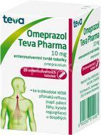 Omeprazol Teva Pharma 10mg perorální orální tobolky enterosolventní tvrdá 28x10mg