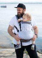 Kinder Hop Rostoucí ergonomické nosítko Multi Grow Grey Cube, 100% bavlna