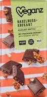 Veganz čokoláda s lískovooříškovým krokantem Bio 80g