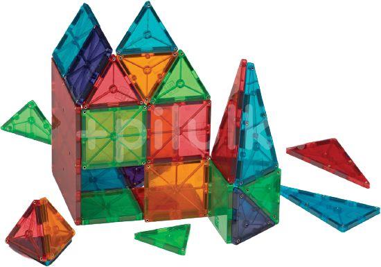 Valtech Magnetická stavebnice Magna Tiles 48 Clear průhledná