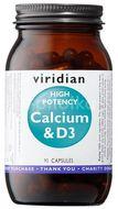 Viridian High Potency Calcium & D3 90 kapslí (Vápník s vitamínem D3)