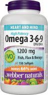 Webber Naturals Omega3-6-9 High Potency 1200mg 150 tobolek