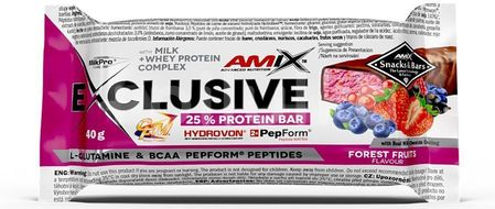 AMIX Exclusive Protein Bar, Lesní ovoce, 40g