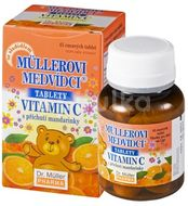 Müllerovi medvídci tablety s příchutí mandarinky a vitaminem C 45 tablet