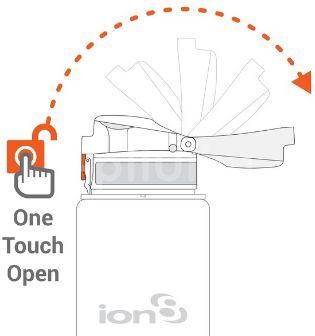 Ion8 One Touch láhev Grey 750ml