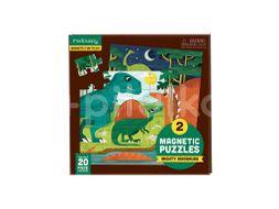 Mudpuppy Magnetické puzzle, Dinosauři 2x20ks