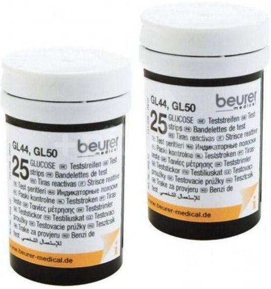 Beurer Testovací proužky ke glukometru, GL 44/GL 50, 2x25ks