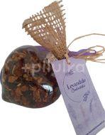 BIO meruňkový sypaný čaj s Levandulí Chodouňskou v jedlé ozdobě dárkově balené.