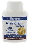 MedPharma Rybí olej 1000mg+EPA+DHA 37 tobolek
