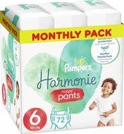 Plenkové Kalhotky Pampers Pants Harmonie Velikost 6, 72 Kalhotek, 15kg+