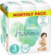 Pampers Harmonie Plenky Velikost 3, 124 Plenek, 6kg-10kg