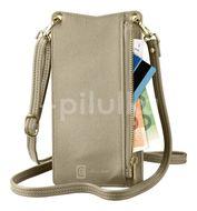 Cellularline Pouzdro na krk Mini Bag pro mobilní telefony bronzový