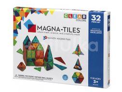 Valtech Magnetická stavebnice Magna Tiles 32 Clear průhledná