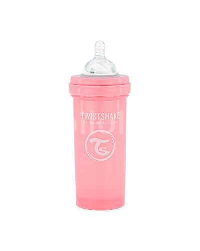 Twistshake Kojenecká láhev Anti-Colic 260ml Pastelově růžová 260ml