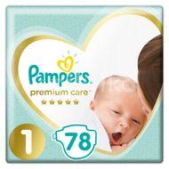 Pampers Premium Care S1 2-5kg 78ks