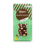 Veganz čokoláda s praženými lískovými ořechy Bio 90g