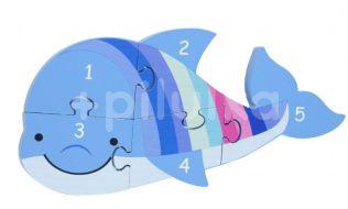 Orange Tree Toys Puzzle čísla Delfín