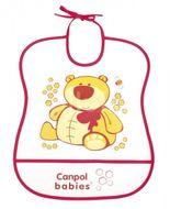 Canpol babies Plastový bryndák měkký Happy Animals