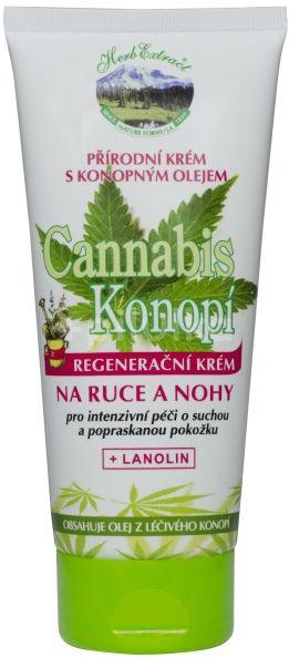 Herb Extract Regenerační krém na ruce a nohy – konopí 200ml
