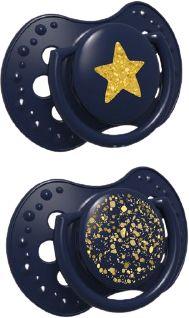 Lovi Dudlík silikonový dynamický Stardust 0-3m 2ks blue