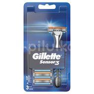 Gillette Sensor3 strojek + 4 hlavice